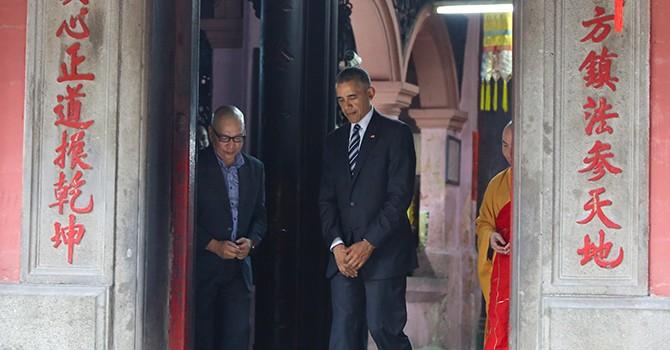 Ba tuần chuẩn bị cho 10 phút đón ông Obama ở chùa Ngọc Hoàng