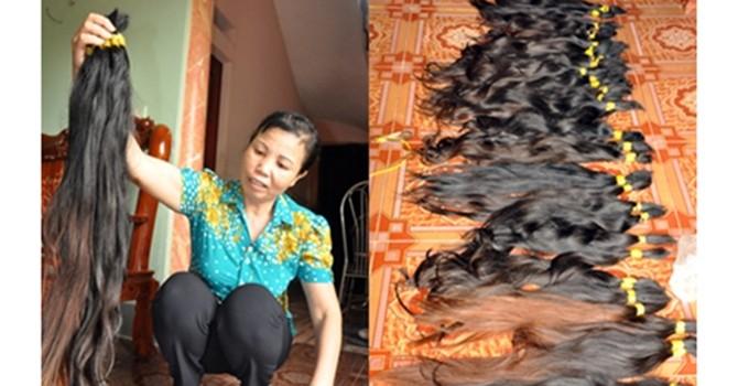 Ngôi làng có 200 người xuất ngoại buôn tóc