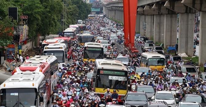 Thấy gì từ 40 tỷ thất thoát mỗi ngày vì ùn tắc giao thông tại Hà Nội?