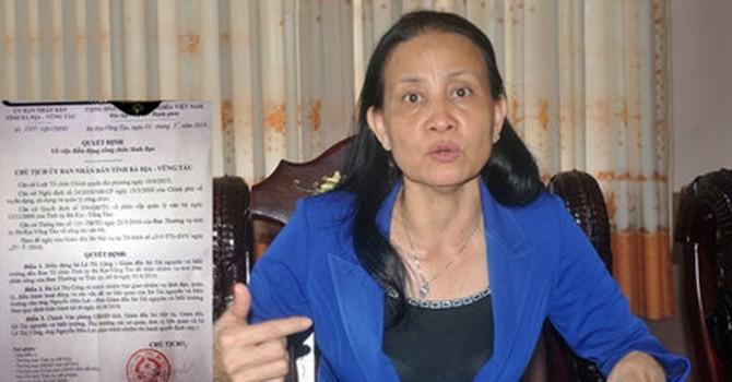 Giám đốc Sở ở Bà Rịa - Vũng Tàu được giải quyết thôi việc