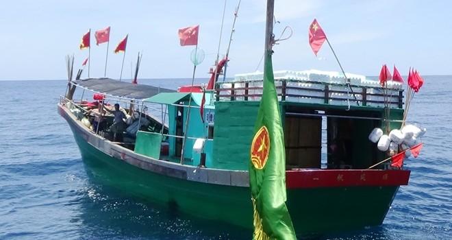 Đuổi 6 tàu cá Trung Quốc xâm phạm sâu vùng biển Việt Nam