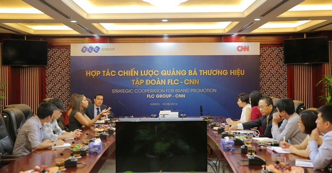 CNN - FLC tăng cường hợp tác phát triển thương hiệu