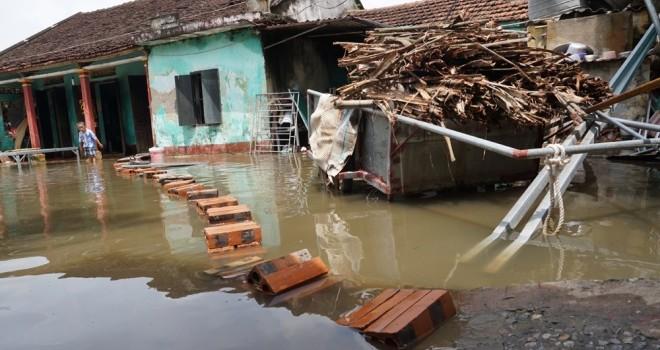 Nhiều hộ dân TP. Thanh Hóa phải đi thuê trọ vì nước ngập nhà