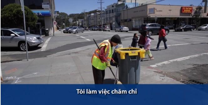Người phụ nữ gốc Việt quét rác nuôi 3 cháu ăn học làm nước Mỹ xúc động