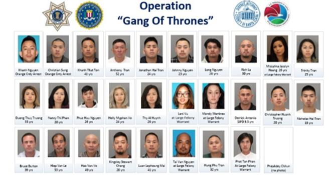 Cảnh sát Mỹ bắt giữ hàng chục thành viên nhóm tội phạm gốc Việt