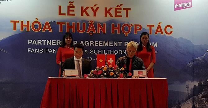 Fansipan Legend ký kết thỏa thuận hợp tác cùng Schilthorn Cableway