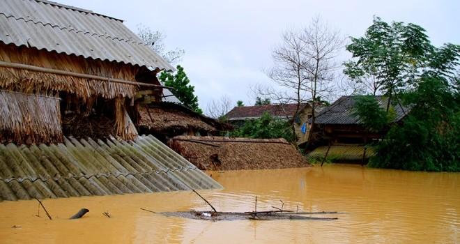 Nghìn người ở Hà Tĩnh chui mái nhà chờ nước rút