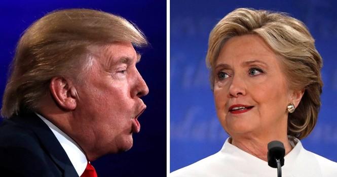 Khoảng cách tỷ lệ ủng hộ của ông Trump và bà Clinton đã được kéo sát