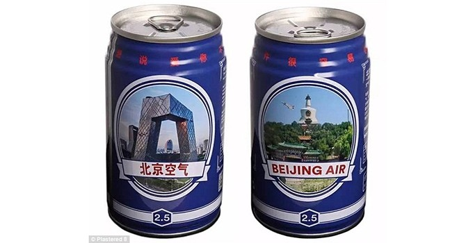 Đóng hộp không khí ô nhiễm của Bắc Kinh để bán