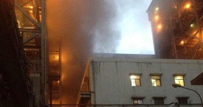 Cháy dữ dội ở Nhà máy nhiệt điện Cẩm Phả