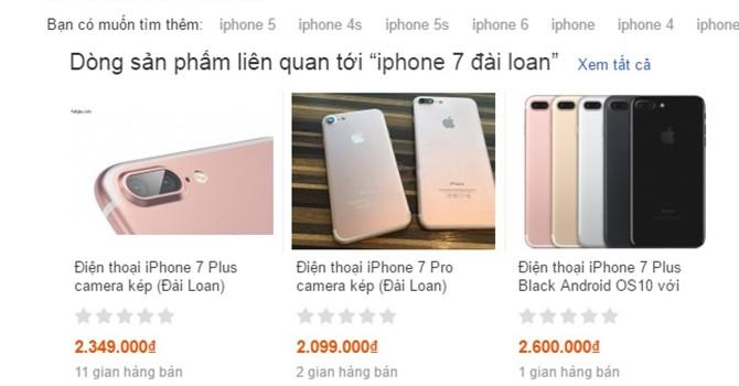 Giáp Tết, iPhone 7 hàng nhái tung hoành trên kênh bán hàng online