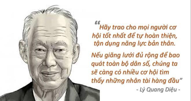 Chính sách tạo nhân tài kì lạ của ông Lý Quang Diệu