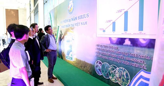 Sau 25 năm, tổng sản lượng tiêu thụ thuốc trừ cỏ Sirius đạt 1.000 tấn