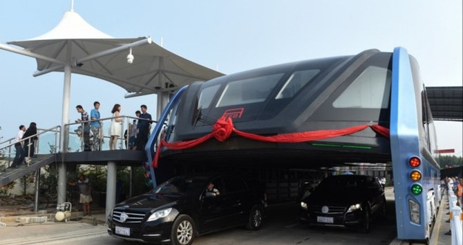 """Dự án """"Xe buýt khổng lồ"""" ở Trung Quốc chính thức chết yểu"""