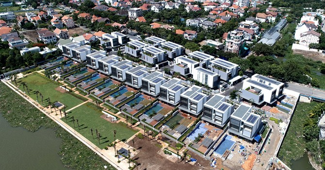 Cận cảnh dự án biệt thự trăm tỷ mỗi căn vừa bị phạt ở Sài Gòn