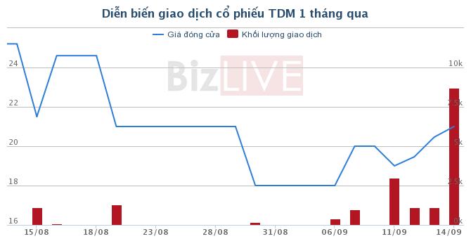 TDM: Phát hành thêm 19,5 triệu cổ phiếu để tăng vốn