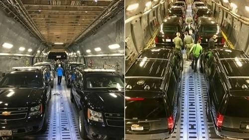 Lộ hình ảnh dàn xe hộ tống ông Trump công du châu Á