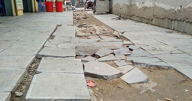 Chủ tịch Hà Nội chính thức yêu cầu thanh tra lát đá vỉa hè