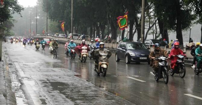 Không khí lạnh tăng cường, Hà Nội mưa rét trên diện rộng