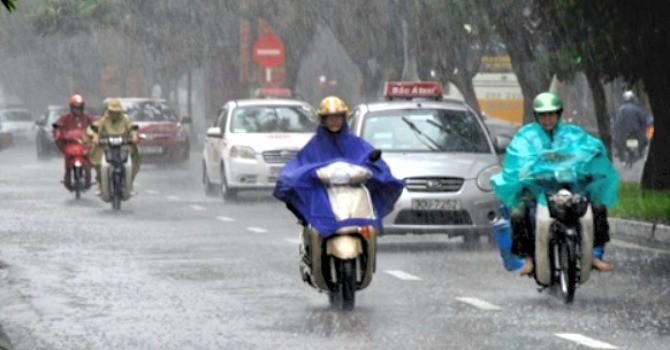 Nhiệt độ miền Bắc giảm mạnh, mưa dông nhiều nơi