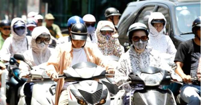 Nắng nóng trên 39 độ C tại các tỉnh miền Trung