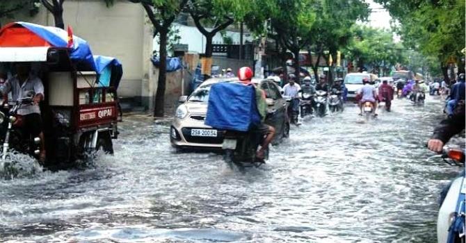 Miền Bắc có mưa lớn, nguy cơ ngập úng đô thị