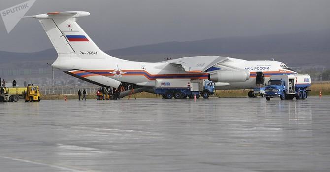 Nga điều máy bay chở 40 tấn hàng hỗ trợ các nạn nhân bị ảnh hưởng bão ở Việt Nam